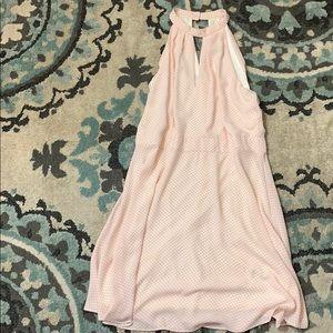 Express Dresses - Pink and white polka dot dress EXPRESS